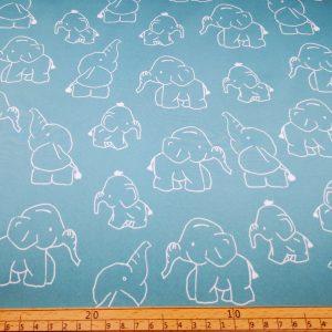 Softshell,Stoff,Stoffe,Elefanten,mint,gruen