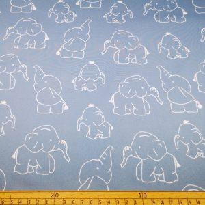 Softshell,Stoff,Stoffe,Elefanten,blau,hellblau