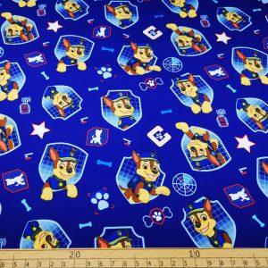 Softshell,Stoff,Paw Patrol,blau