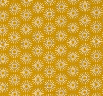 C6_Baumwolle_Stoff_Stoffe_Bluemchen_Blumen_Kreise_gelb
