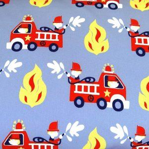 A121_Softshell_Stoff_Stoffe_Stoffpiraten_Feuerwehr_Autos_Feuerwehrautos_grau