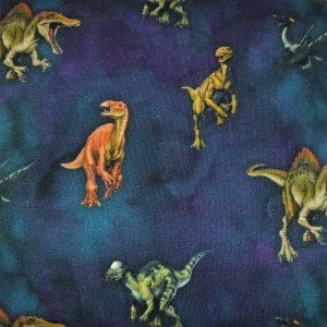 B116_Jersey_Baumwolljersey_Stoff_Stoffe_Stoffpiraten_Dinosaurier_Dinos_blau
